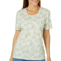 Coral Bay Womens Tropical Palm Tree Top