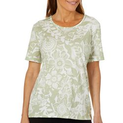 Coral Bay Womens Floral Blossom Print Top