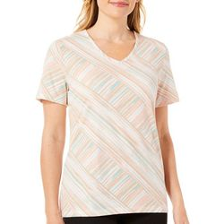 Coral Bay Womens Paneled Striped Top