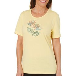 Coral Bay Womens Bird of Paradise Embellished Top