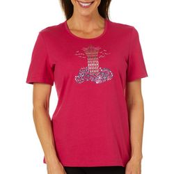 Coral Bay Womens Jeweled Lighthouse Top