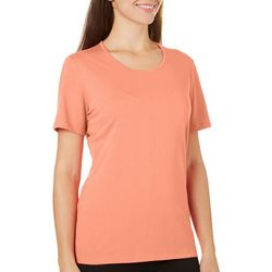 Coral Bay Womens Classic Solid Short Sleeve Top