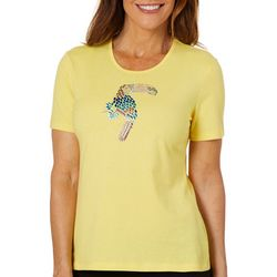 Coral Bay Womens Jeweled Toucan Top