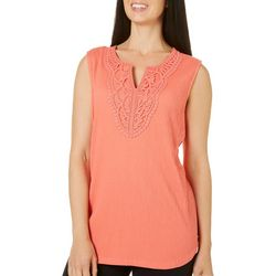 Coral Bay Womens Crochet Lace Tank Top