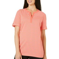 Coral Bay Womens Essentials Striped Top