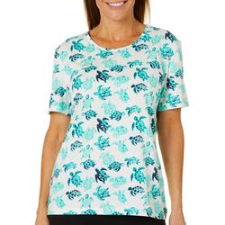 Coral Bay Womens Sea Turtle Short Sleeve Top