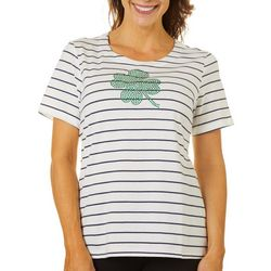 Coral Bay Womens Four Leaf Clover Florida Tee