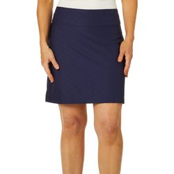 Coral Bay Energy Womens Textured Geometric Pull On Skort