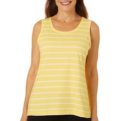 Coral Bay Womens Double Stripe Scoop Neck Tank