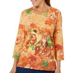 Coral Bay Womens Embellished Harvest Top