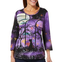 Coral Bay Womens Spooky Cat Top