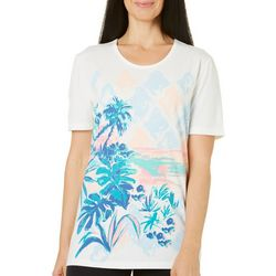 Coral Bay Womens Tropical Beach Scene Top
