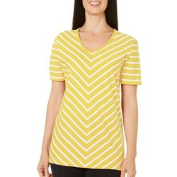 Coral Bay Womens Striped Chevron Top