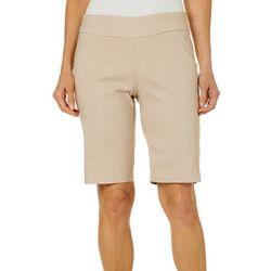 Coral Bay Womens Millennium Dot Print Bermuda Shorts