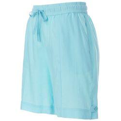 Coral Bay Womens Linen Drawstring Shorts