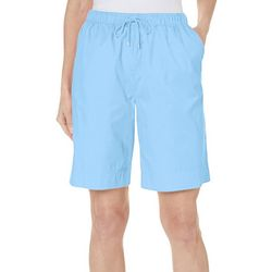 Coral Bay Womens The Everyday Pull On Drawstring Shorts