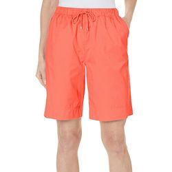 Coral Bay Womens Drawstring Twill Shorts