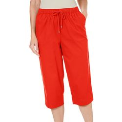 Coral Bay Womens Stars And Stripes Capri Pants