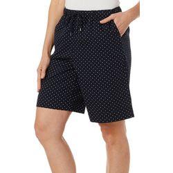 Coral Bay Womens Everyday Ocean Drive Drawstring Dot Shorts