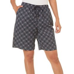 Coral Bay Womens Ocean Drive Sailboat Bermuda Shorts