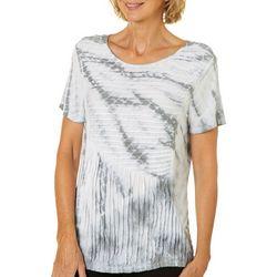 Onque Womens Textured Tie Dye Top