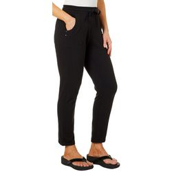 Onque Womens Solid Drawstring Pull On Pants