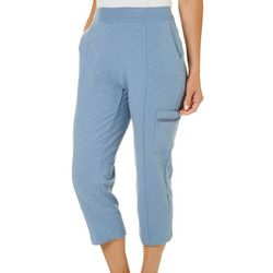 Onque Womens Solid Crop Pull On Capris
