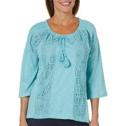Onque Womens Dolman Lace Detailed Top