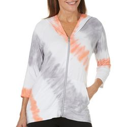Onque Womens Tie Dye Zip Up Jacket