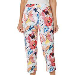 Onque Womens Floral Print Crop Pants