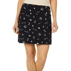 Coral Bay Womens Conversational Print Pull On Skort