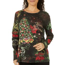 I. B. Diffusion Womens Happy Holidays Long Sleeve