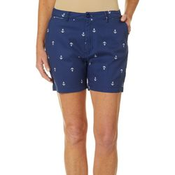 Fresh Womens Anchor Print Shorts