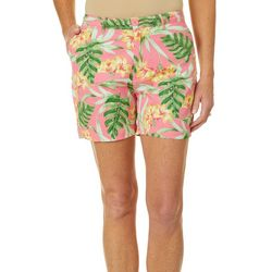 Fresh Womens Tropical Floral Print Shorts