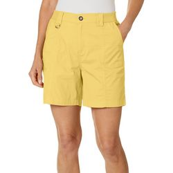 Fresh Womens Solid Knit Waist Shorts