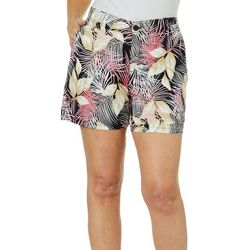 Fresh Womens Tropical Palm Leaf Shorts