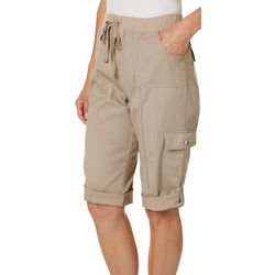 Fresh Womens Solid Pull On Skimmer Shorts