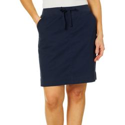 Fresh Womens Solid Pull On Skort