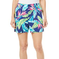 Fresh Womens Vibrant Palm Leaf Shorts