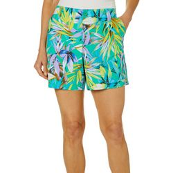 Fresh Womens Tropical Palm Print Shorts
