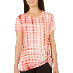Silverwear Womens Tie Dye Side Tie Top