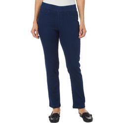 Erika Womens Joey Twill Pull On Pants