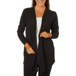 Erika Womens Solid Open Front Cardigan
