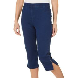Erika Womens Joey Twill Pull On Capris
