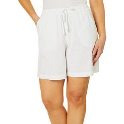 Erika Womens Lucy Solid Pull On Shorts