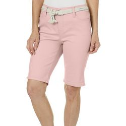 Gloria Vanderbilt Womens Joslyn Rope Belt Bermuda Shorts