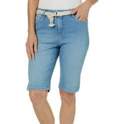 Gloria Vanderbilt Womens Joslyn Rope Belt Bermuda Shorts