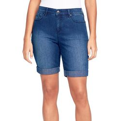Gloria Vanderbilt Womens Roll Cuff Denim Shorts