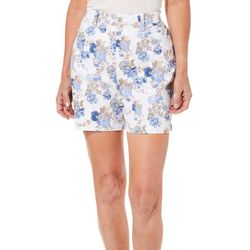 Gloria Vanderbilt Womens Amanda Floral Print Shorts