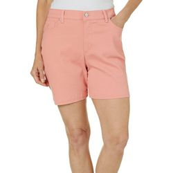 Gloria Vanderbilt Womens Amanda Solid Denim Shorts